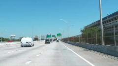 Driving to Miami Beach Stock Footage