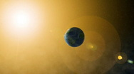 Stock Video Footage of Sun and Earth