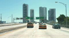 Driving to Miami Beach - time lapse - stock footage