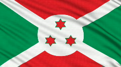 Burundi Flag, with real structure of a fabric Stock Footage