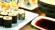Stock Video Footage of Healthy Japanese Sushi