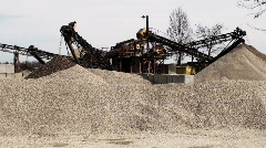 Mining and sorting sand Stock Footage