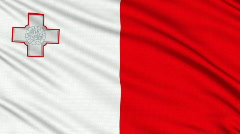 Maltese Flag, with real structure of a fabric - stock footage