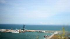 Barcelona sea beach coast urban city  Stock Footage