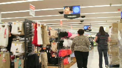 Bulky Shopper 2 Stock Footage