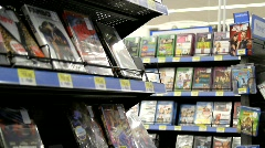 DVD and Blu Ray movies Stock Footage