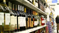 Liquor Aisle Dolly Stock Footage
