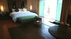 HOTEL RESORT BEDROOM SUITE DOLLY - stock footage