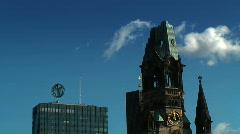 JHD - City - Berlin - Memorial Church - multiple Clips Stock Footage