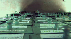 Hand And Storage Boxes 003 Stock Footage