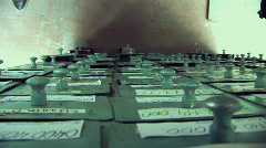 Hand And Storage Boxes 02 Stock Footage