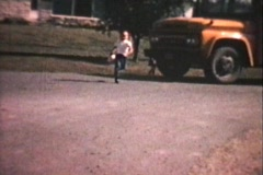 First Day Of School (1967 Vintage 8mm film) Stock Footage