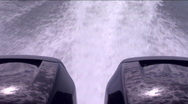 Driving a speedboat on the lake Stock Footage