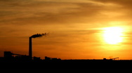 Db Industrial Sunset Stock Footage