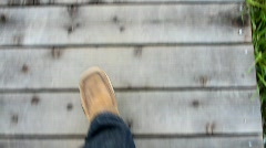 POV man walking Stock Footage