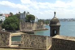 Puerto Rico - San Juan: guerite, bay, & governor house Stock Footage