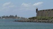 Puerto Rico - San Juan: guerite and old city walls Stock Footage