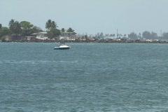 Puerto Rico - San Juan: jet ski in bay Stock Footage