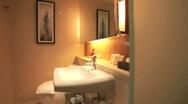 HOTEL BATHROOM Stock Footage