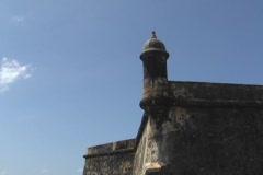 Puerto Rico - San Juan: El Morro south east guerite Stock Footage