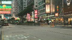 Hong Kong night scene on Nathan road in Hong Kong Stock Footage