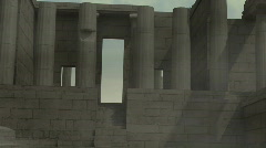 Acropolis Entry - stock footage