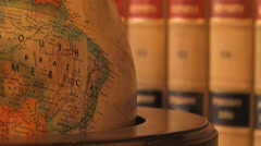 Law Books World Stock Footage