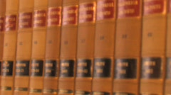 Law Books Stock Footage