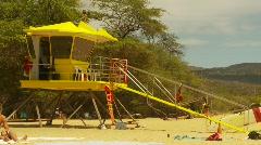 Maui, Big beach, #2 and lifeguard hut  Stock Footage