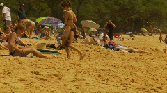 Mau,i Big Beach, #5 people relaxing Stock Footage