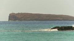 Molokini from shore, Maui Stock Footage
