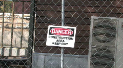 Construction Sign Stock Footage