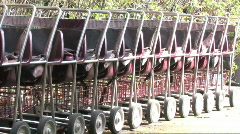 Row of Strollers Stock Footage