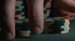 Shuffling Chips Close Up - stock footage