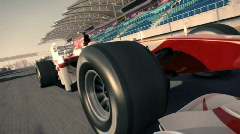 Formula one race car HD720 Stock Footage