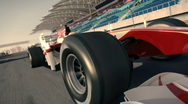 Stock Video Footage of formula one race car HD720