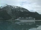 Princess coming into Glacier Bay Stock Footage