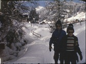 Winter vacancies (Vintage 8 mm amateur film) Stock Footage