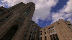 Cathedral Of Learning Pittsburgh Timelapse Stock Footage