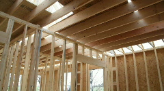 Interior of Home Being Built - stock footage