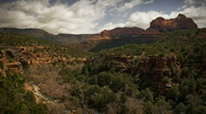 (1166) Sedona Arizona Canyon Clouds Creek Storm Time-lapse LOOP Stock Footage