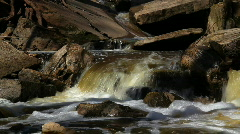 Rapids winding through rocks - stock footage
