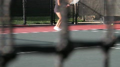 Tennis Lesson 1 Stock Footage