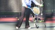 Female Tennis Coach 2 Stock Footage