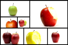 Apples montage loopable - NTSC widescreen Stock Footage
