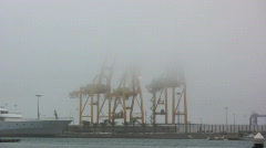 Fog on the port Stock Footage