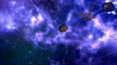 Asteroid path - stock footage