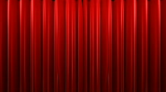 Red velvet theater curtains - stock footage