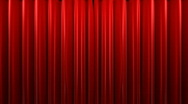 Red velvet theater curtains Stock Footage