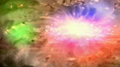Colored space gas - stock footage